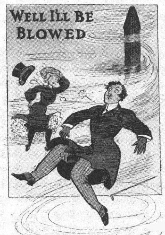 """1905年的明信片,說明""""23 skidoo""""的大樓風。(引用自維基百科 http://en.wikipedia.org/wiki/23_skidoo_%28phrase%29)"""