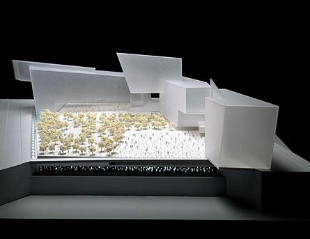 入圍04 設計者:Pierre David, Sean Corriel, and Jessica Kmetovic 主題:Garden of Lights (圖片引用自主辦單位網站:wtcsitememorial.org)